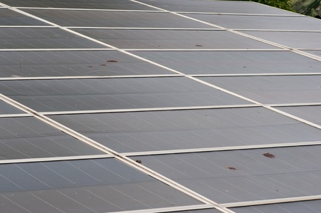 photoelectric: Photoelectric cells of a solar panel
