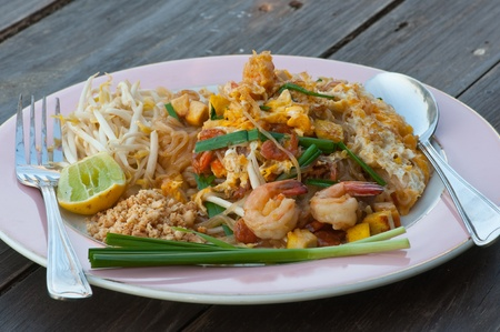 Thai noodle fried photo
