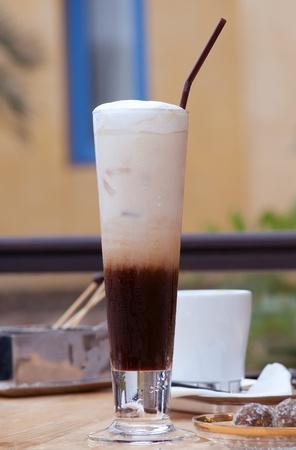fredo: questa immagine è un bicchiere di caffè freddo Archivio Fotografico