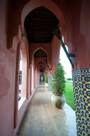 outside of building in Moroccan style