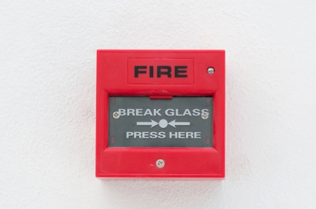 sprinkler alarm: fire warn box on the wall