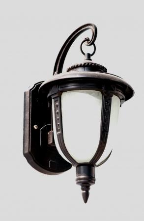 vintage street light lamp on the wall Stock Photo - 14187307