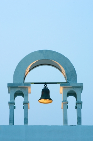 vintage belfry in greek style photo