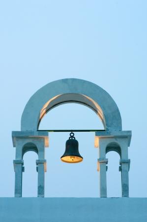 vintage belfry in greek style photo