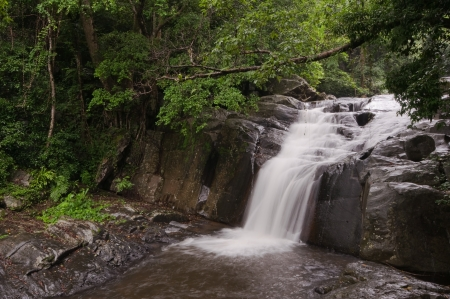 pa la-u waterfall,in Kang Krachan national park Thailand photo