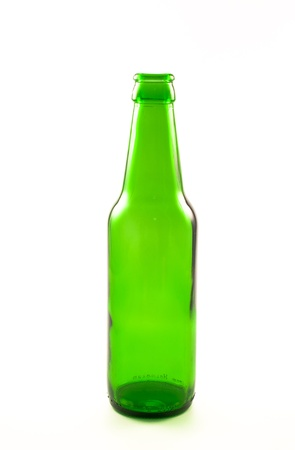 bottle of beer on white background Stock Photo - 14387205