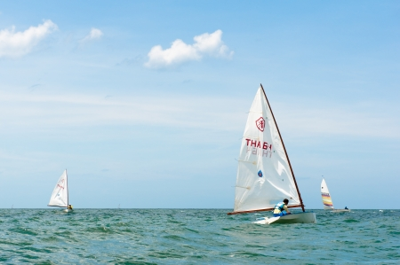 Hua Hin Regatta 2012, sailing competition Stock Photo - 14756798