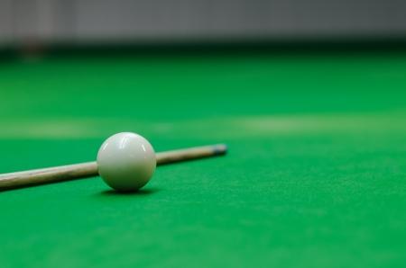 poolball: snooker balls on green snooker table Stock Photo