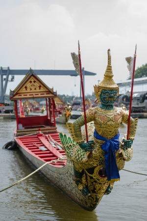 Thai royal barge, supreme art of Thailand  photo