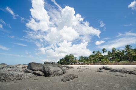 hin: rocks on Hua Hin beach in Thailand