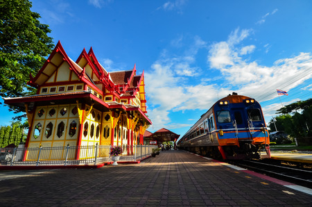 hua hin: Hua Hin railway station Thailand