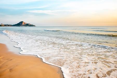 hin: Tropical beach wave at Hua Hin Thailand in the  morning Stock Photo