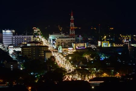 colorful of Hua Hin nightscape Thailand