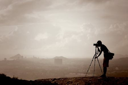 photographer on the hill photo
