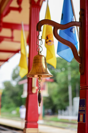 a bell in Hua Hin railway station  Thailand photo