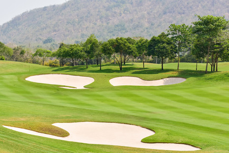 golf course: Sand bunkers on the golf course
