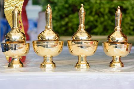 ceremonial: pour ceremonial water pot set Stock Photo