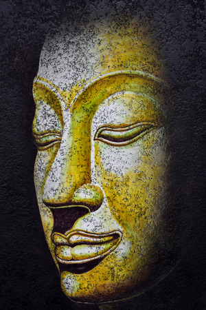 thai buddha: buddha faceacrylic painting on canvas