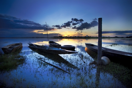 desolation: Boat with a beautiful sky