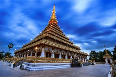 Wat Nong Waeng and blue sky at Khon Kaen,Thailand Stock Photo
