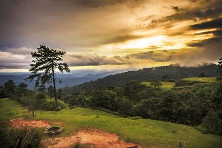 Sunset at Huenamdang National Park, Thailand