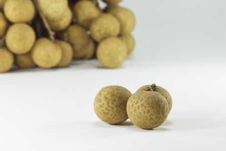 Fresh Longans fruits isolated on white background