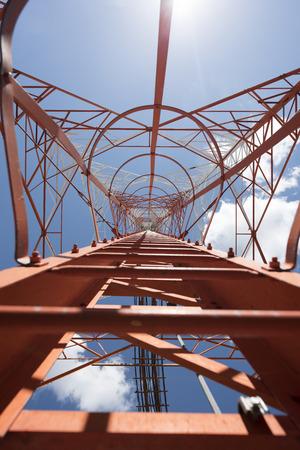 communication tower: Communication tower on the blue sky