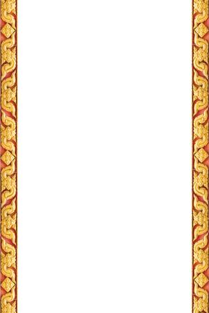 Frame of Thai ancient art, Isolated on white background, Public art