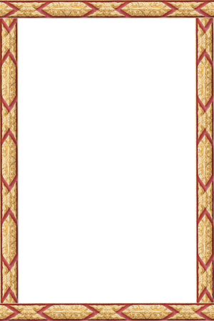 Frame of Thai ancient art, Isolated on white background, Public art