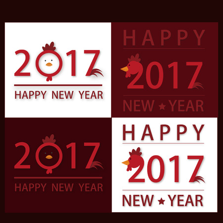 year: 2017 happy new year Illustration