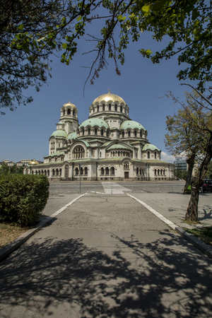 alexander nevsky: The Alexander Nevsky Cathedral in Sofia, Bulgaria Stock Photo