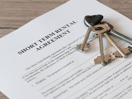 Close - up of Lease or Rental agreement form Stockfoto