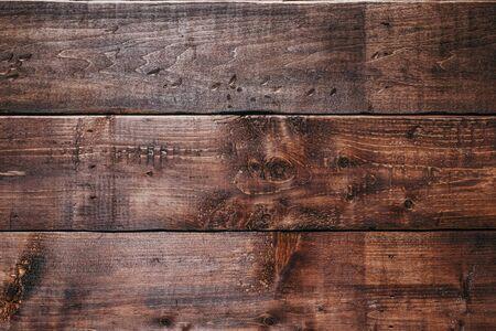 Alte hölzerne Hintergrundtextur. Retro-Holztisch. Leere Planke Holzwand Textur Hintergrund. Standard-Bild
