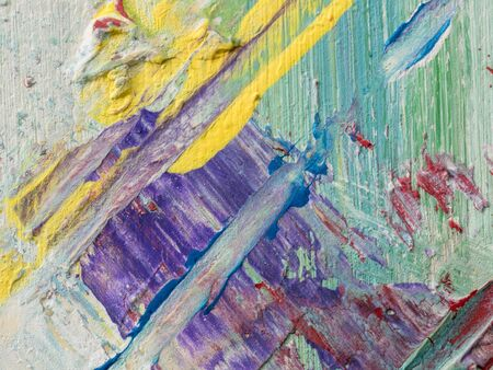 Oil Painting colorful close up texture. Canvas texture background 版權商用圖片