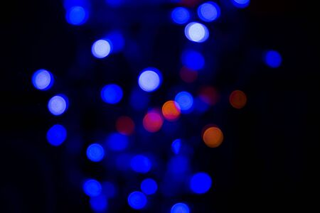 Light dots bokeh, defocused abstract background