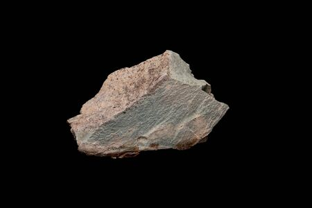 Close up stone of Zeolite mesolite raw stones on black background Banco de Imagens
