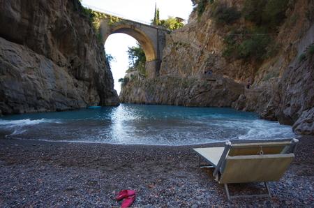 Amalfi Furore Bridge Banque d'images - 96637494