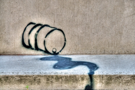Oil spill graffiti