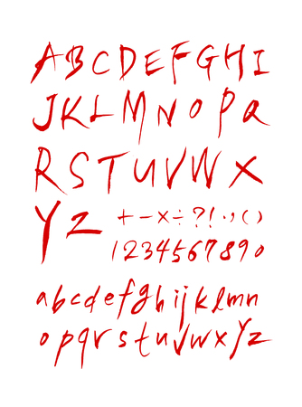 Handwritten calligraphy with Uppercase and lowercase letters and numbers.