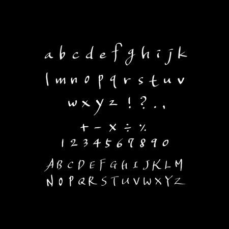 Vector fonts  Handwritten calligraphy