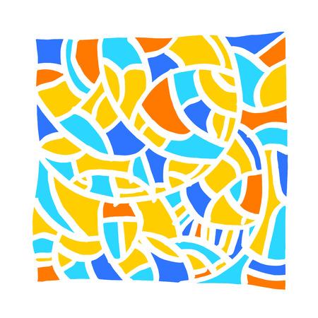 zen tangle pattern / Hand drawn mosaic illustrations - vector