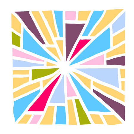 zen tangle pattern  Hand drawn mosaic illustrations - vector Illustration