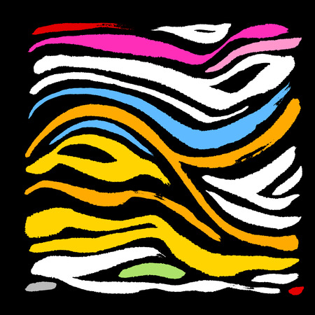 Zebra print, hand drawn pattern vector illustrations.