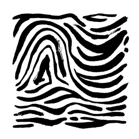 Zebra print  Hand drawn pattern illustrations - vector
