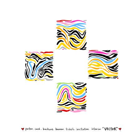 Zebra print / Hand drawn pattern illustrations - vector 일러스트