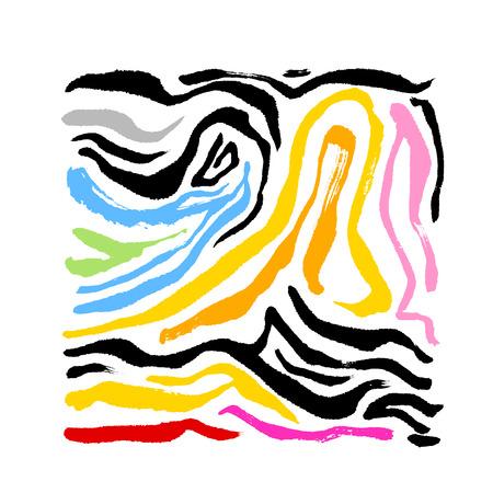 Zebra print / Hand drawn pattern illustrations - vector  イラスト・ベクター素材