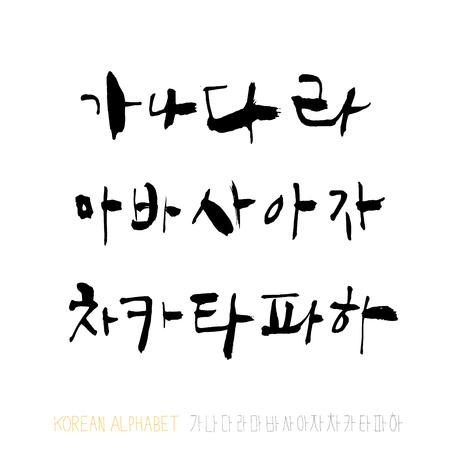 Vector fonts / Handwritten calligraphy Vector Illustration