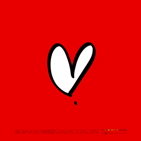 Heart pattern / Hand drawn heart sketch - vector Stock Illustratie