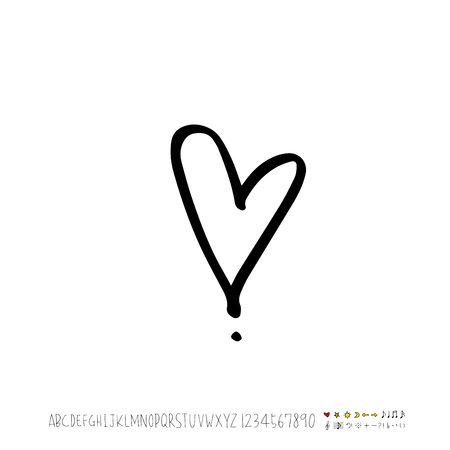Heart pattern / Hand drawn heart sketch - vector Stock Illustratie
