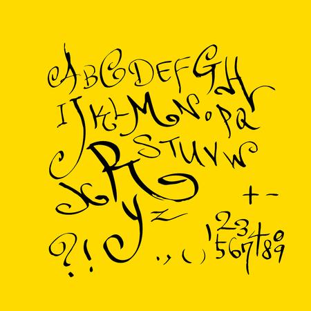 Vector fonts Handwritten calligraphy Illustration